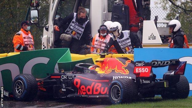Sergio Perez at the Belgium GP