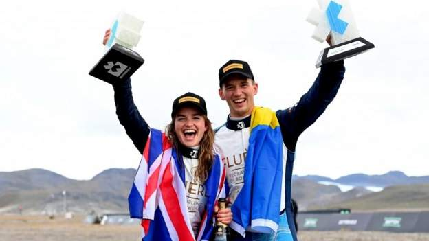 Extreme E: Britain's Catie Munnings wins first ever Greenland race