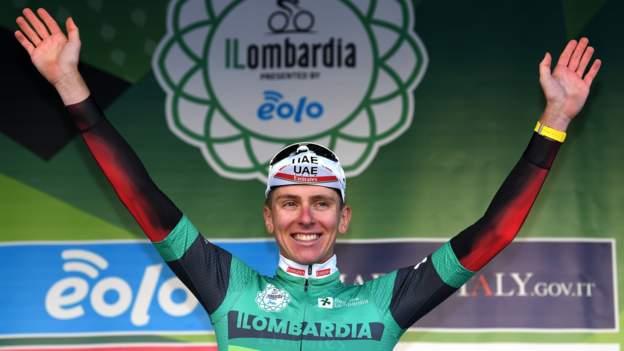 Giro di Lombardia: Tadej Pogacar adds title to Tour de France success