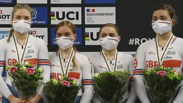 World Track Cycling Championships: Great Britain win team sprint bronze in Roubaix