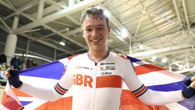 World Track Cycling Championship: Ethan Hayter dominates for omnium gold