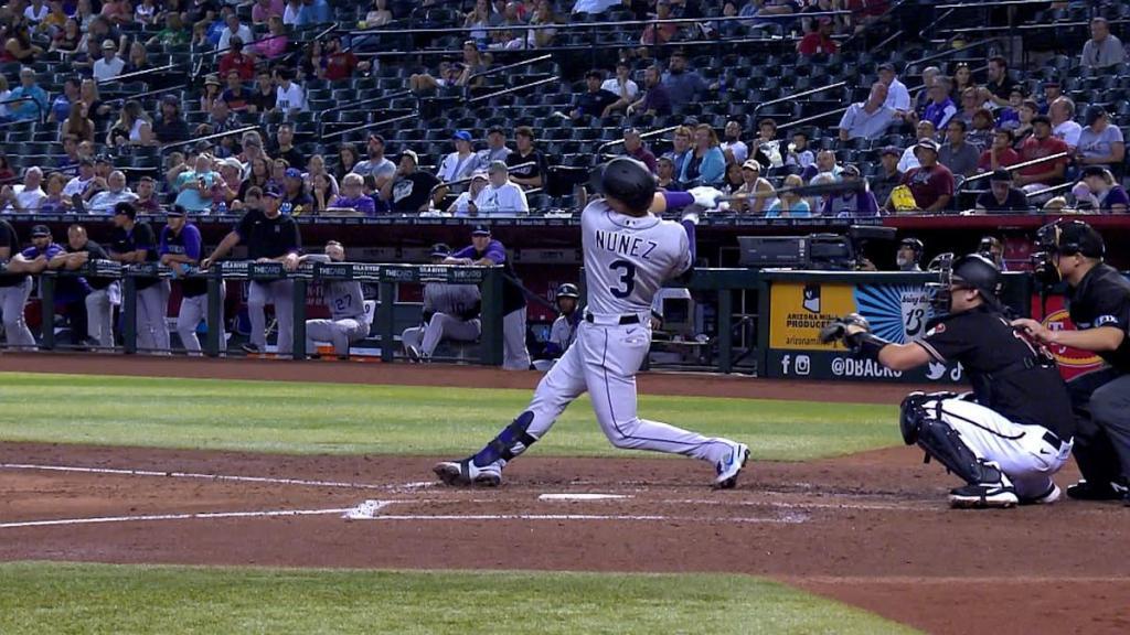 Dom Nunez's solo home run