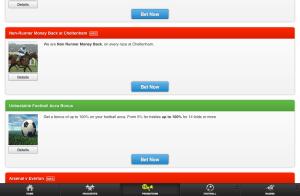 Paddy Power iPad app in use