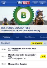 Sky Bet mobile app - Best odds guaranteed