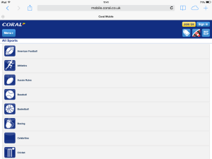 iPad view of the Coral Mobile App
