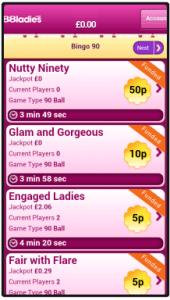 888 Ladies Bingo App Screen Shot