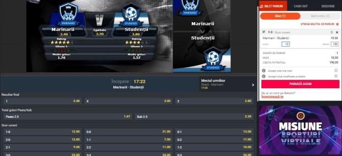 Sporturi virtuale la Betano - merită sa pariem? | BettingInside.ro