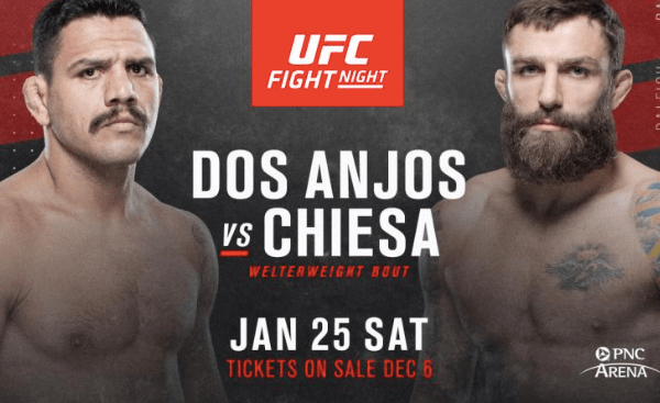 UFC Raleigh Odds