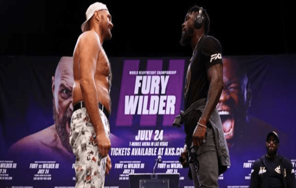 Fury vs Wilder face off ahead of their third fight