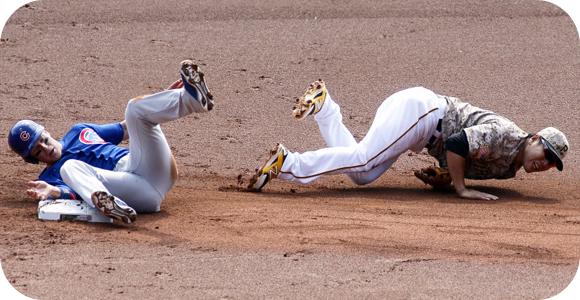 Baseball take-out slides
