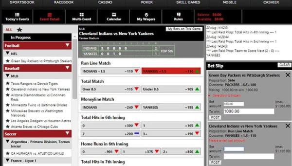 bet online live betting