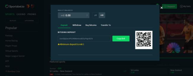 sportsbet bitcoin deposit