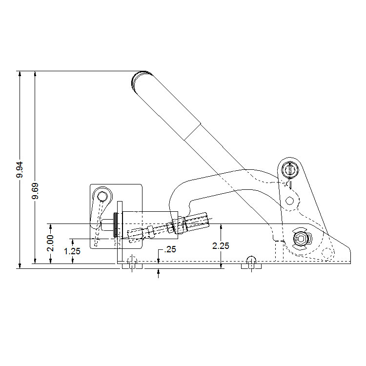 Mechanical Delta 1 Compact Operator (grease fitting in