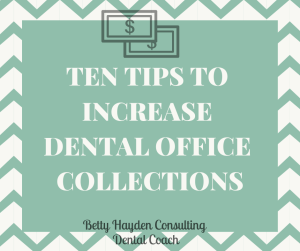 how to collect dental patient copays betty hayden dental coach