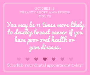 dental office social media posts for breast cancer awareness month