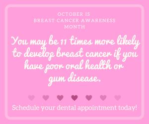 dental office social media posts for breast cancer awareness month