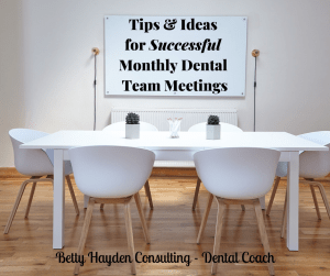 how to conduct effective dental team meetings