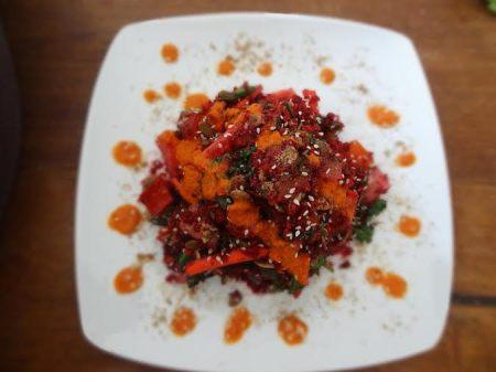 Jonny Freesh Raw Carrot Beet Salad