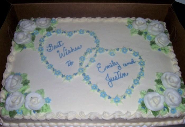Wedding Sheet Cakes Wedding Celebration Cakes