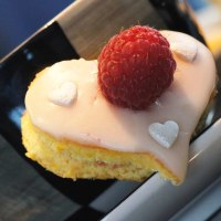 Madam Puddifoot's Victoria's Sponge Hearts with an Orange Twist and Homemade Raspberry Jam