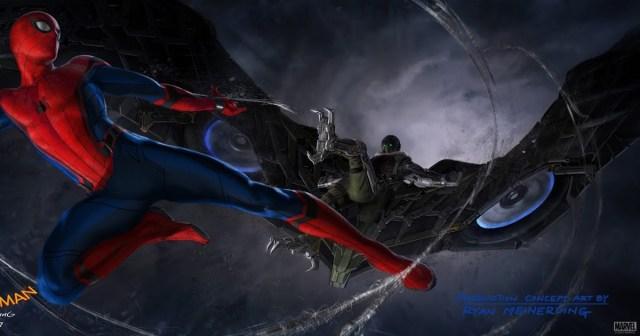 Человек-Паук против Стервятника. Концепт-арт