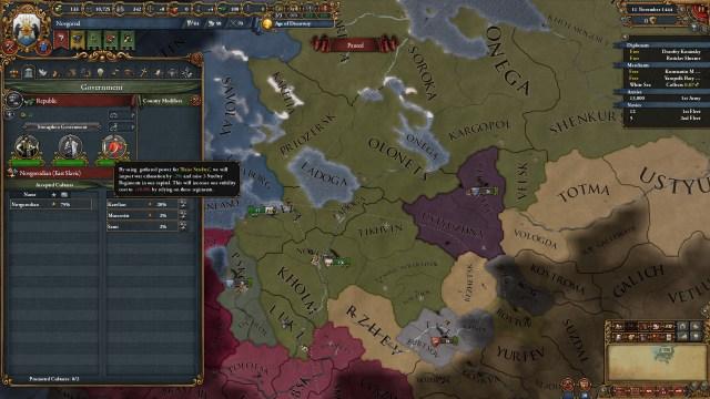 Скриншот из дополнения «Третий Рим» для Europa Universalis IV