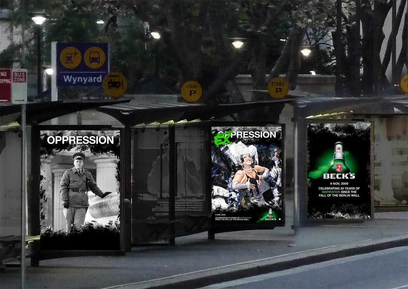 Posters in situ at vinyard