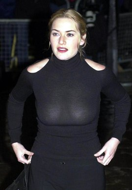 """Actress Kate Winslett arrives at the London Evening Standard Film Awards 2002 at The Savoy Hotel in London Sunday Feb. 3, 2002. Winslett later won the best actress award for her performances in three films, """"Quills"""", """"Enigma"""" and""""Iris."""" The annual awards recognizes the achievements in British cinema during 2001. (AP Photo/PA, Yui Mok)"""