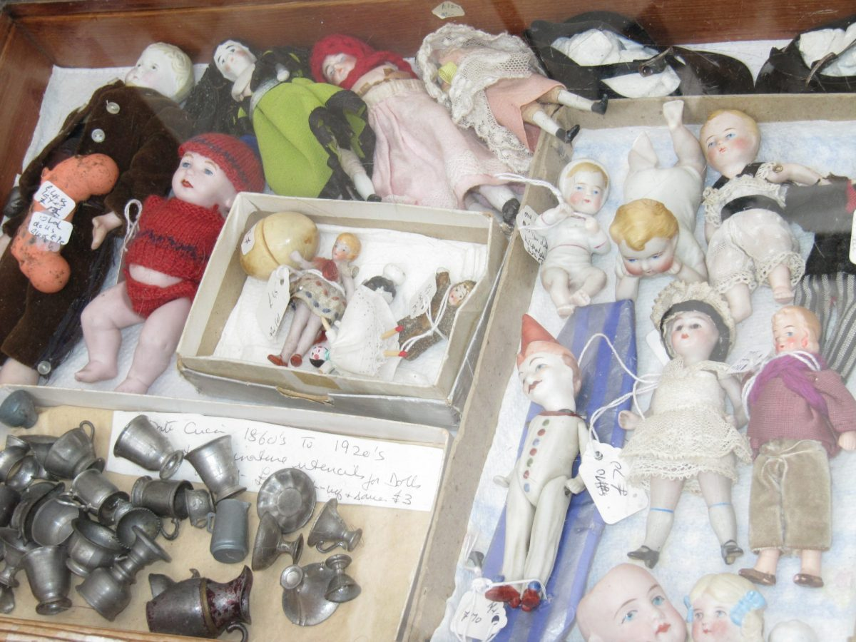 Creepy dolls from Portobello Market.