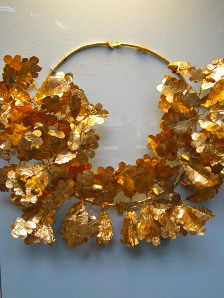 Gold wreath, The British Museum