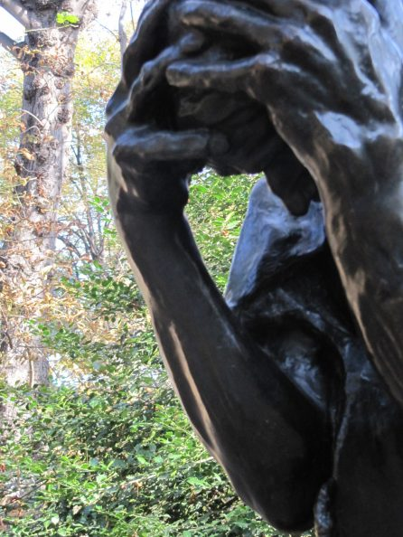 In the garden at the Rodin Museum.