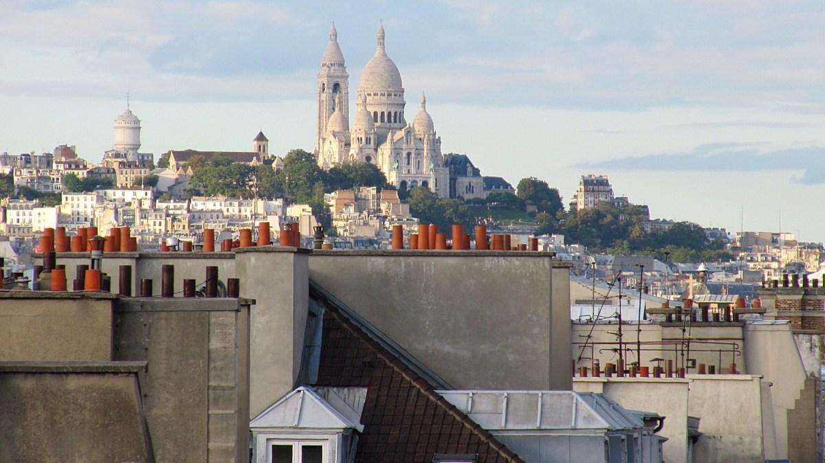 Sacré-Cœur Basilica from my room at the Hotel Pont Royal