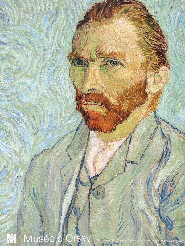 Van Gogh Self Portrait at the Musée d'Orsay.