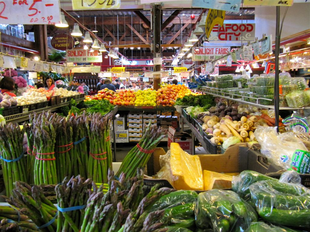 The fresh produce of Granville Island
