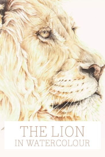 The Lion in watercolor