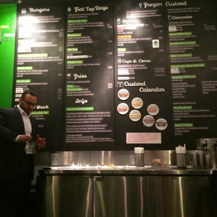 Enjoyed a tasty SmokeShack burger and shake from the very popular Shake Shack.