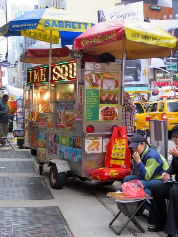 Attention grabbing street food.