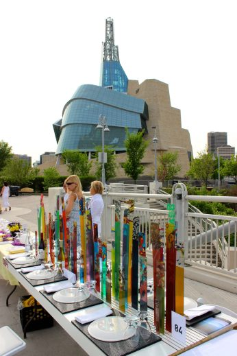 Table for 1200: The WAG's artistic and colourful display.