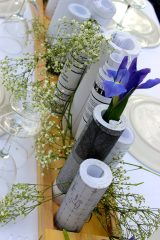 Recycled paper vases. Great idea!