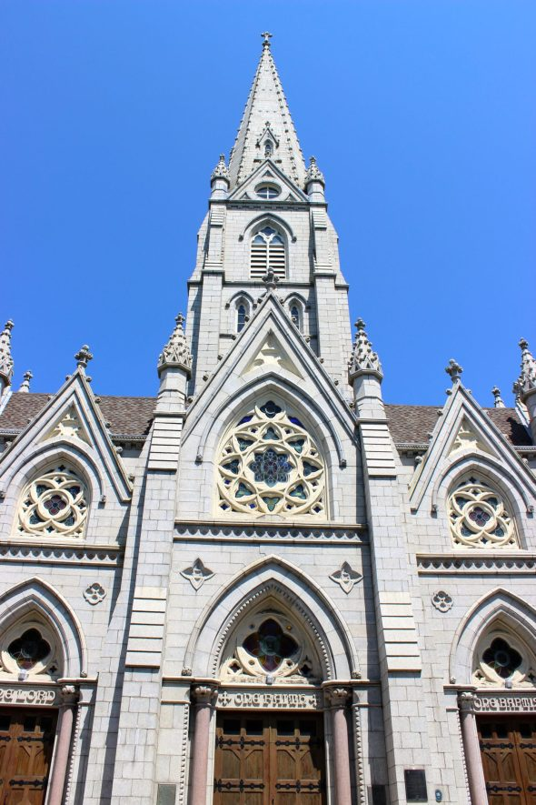The Basilica boasts the tallest granite spire in North America.