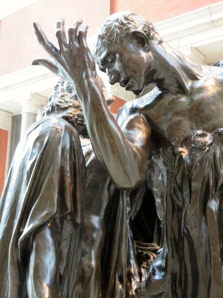 The Burghers of Calais, Auguste Rodin.