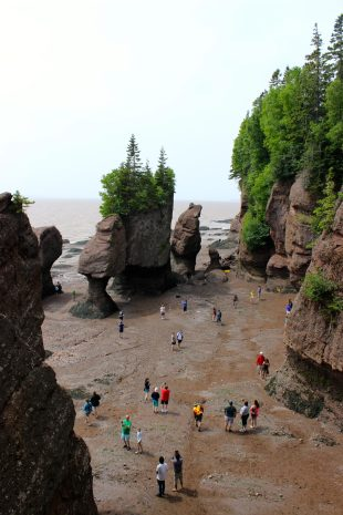 Hopewell Rocks, Bay of Fundy, New Brunswick.