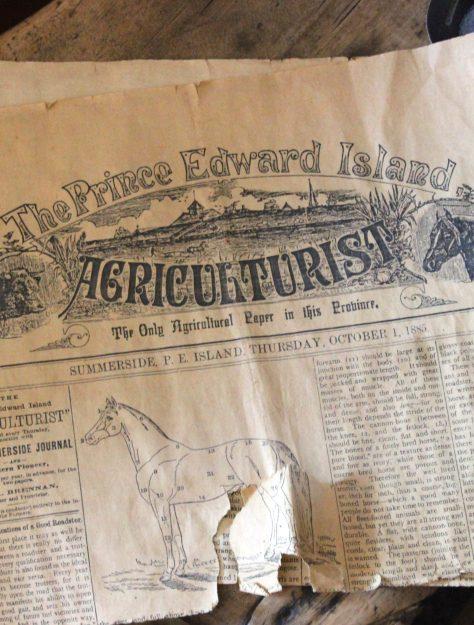 The Agriculturist, circa 1885, Prince Edward Island.