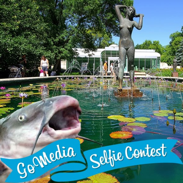 Catfish at the Leo Mol Garden. GoMedia 2014 Selfie Contest for Travel Manitoba.