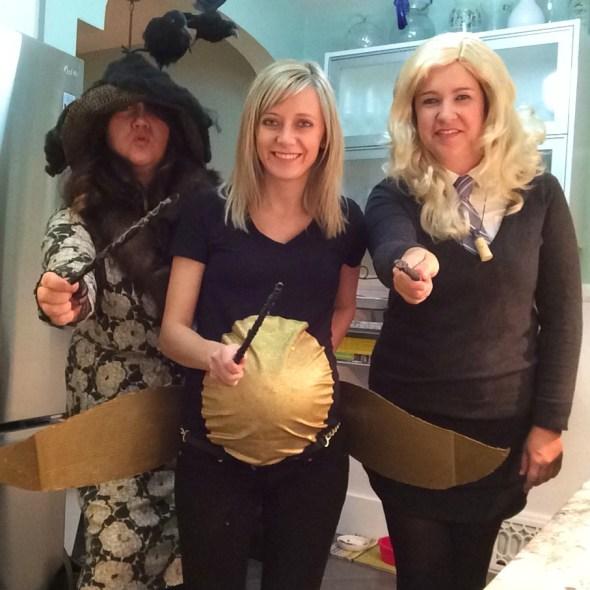 Wands out! Hanging with Luna Lovegood and the golden snitch.