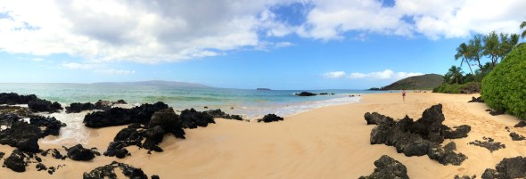 Panoramic of Big Beach, Makena, Maui, Hawaii
