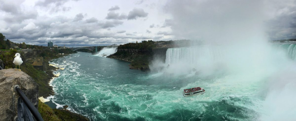 Panorama of Niagara Falls, Ontario, Canada