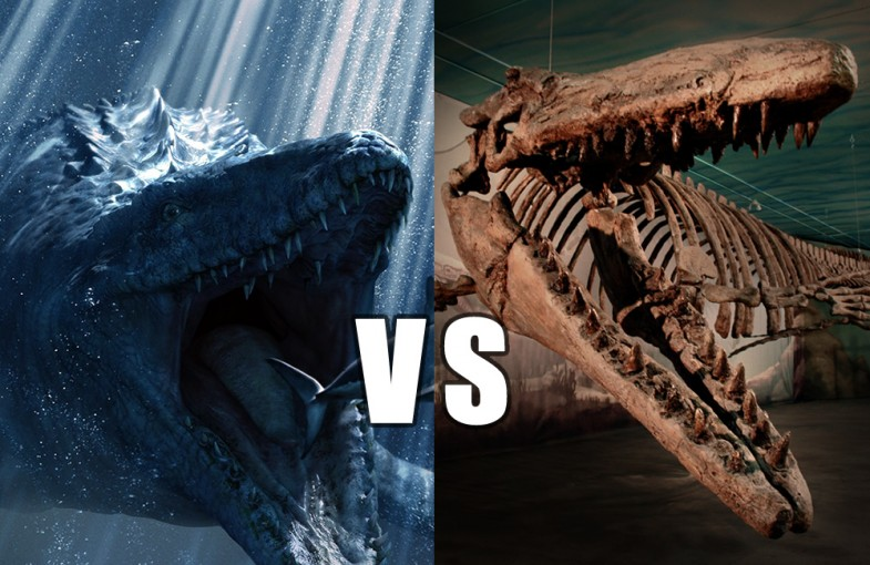Movie mosasaurs vs. Morden's mosasaurs