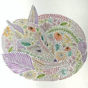 From Millie Marotta's Animal Kingdom coloring book