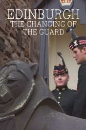 The Changing of the Guard at Edinburgh Castle, Scotland.
